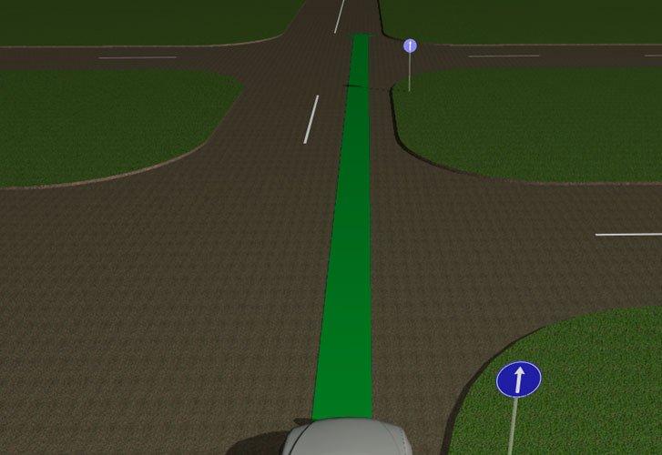Знак перед дорогой с двумя пересечениями проезжих частей