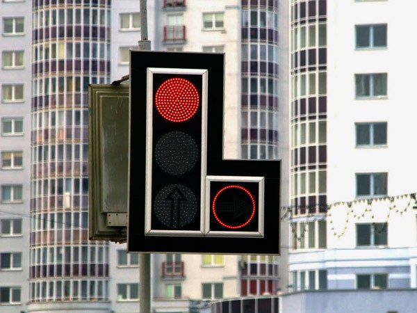 Красный контур в дополнительной секции светофора