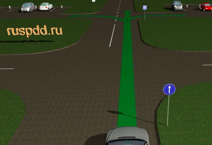 можно ли развернуться на перекрестке со знаком движение только прямо