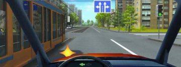 Проезд перекрестка с трамваем