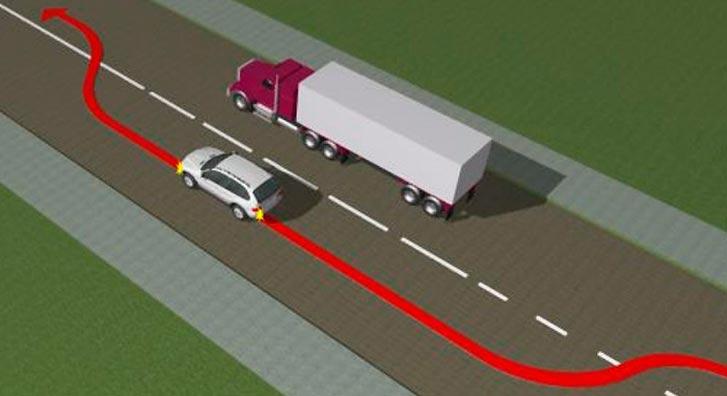 Обгон транспортной колонны по Правилам дорожного движения