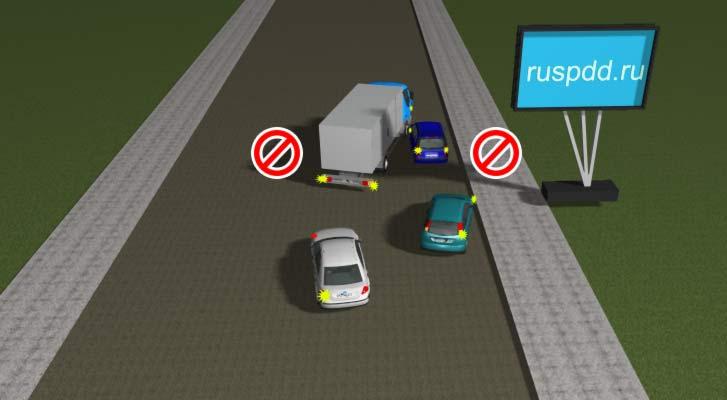 Объезд препятствия запрещен Правилами
