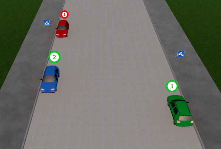 Пешеходный переход обозначенный только знаками