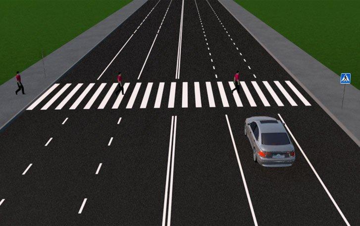 Движение пешехода через дорогу