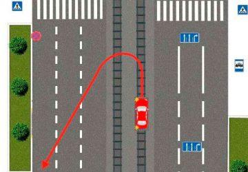 Разворот перед перекрестком на трамвайных путях — задача
