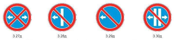 Дополнительные знаки остановка и стоянка запрещена
