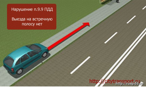 Спорные ситуации на дороге выезд на встречную полосу
