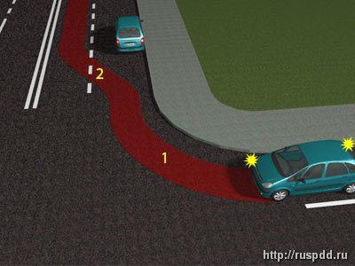 поворот с полосы со знаком движение прямо