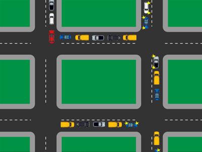 Проезд перекрестка в пробке