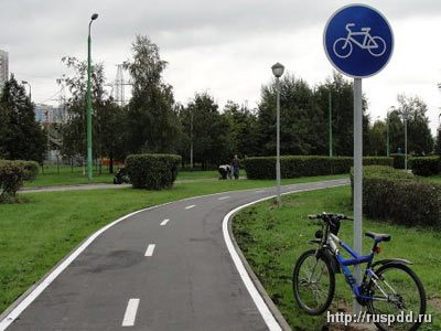 Велосипедная дорожка отдельная дорога