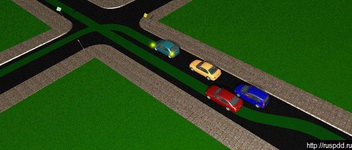 Разрешен обгон и поворот налево