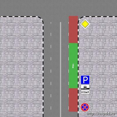 Парковка в зоне знака 3.27