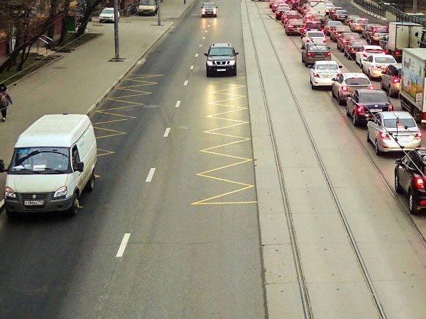 Разметка трамвайной остановки