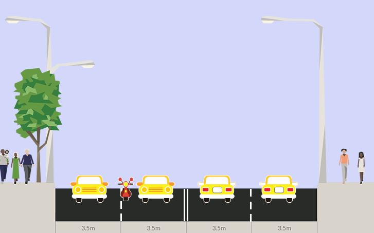Разрешено ли мотоциклистам ездить между рядами